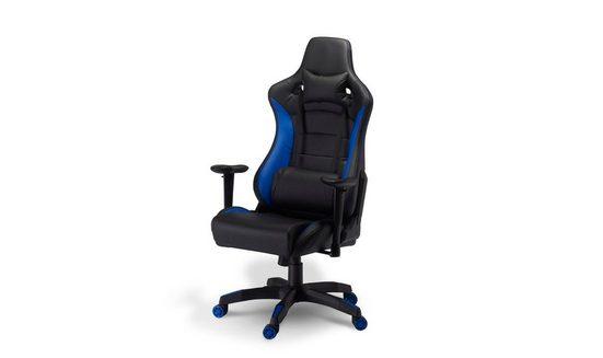 ebuy24 Gaming-Stuhl »Garry Bürostuhl Gamer Stuhl schwarz und blau.«