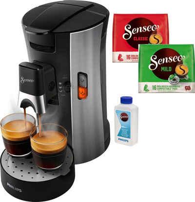 Senseo Kaffeepadmaschine SENSEO® Select CSA250/10, inkl. Gratis-Zugaben im Wert von € 14,- UVP