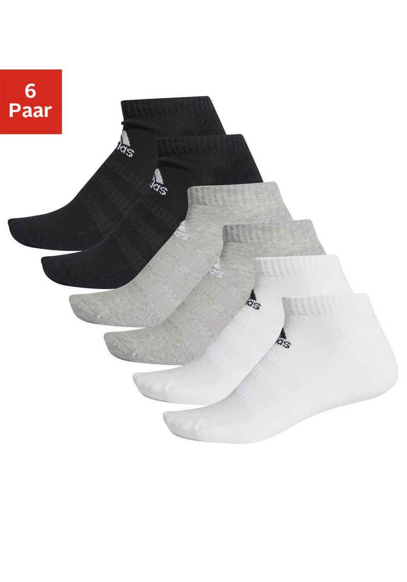 adidas Performance Sneakersocken »Cush Low« (6-Paar) mit Fußgewölbeunterstützung