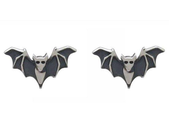 Gemshine Paar Ohrstecker »Fledermaus«, Schmuck für Tierfans Made in Spain