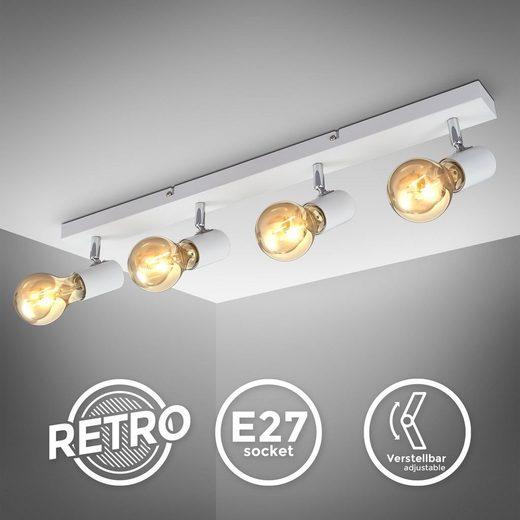 B.K.Licht LED Deckenspot »BKL1361«, schwenkbare vintage Deckenleuchte, 4-flammige retro Deckenlampe, max. 60W E27, Landhausstil, Deckenstrahler, ohne Leuchtmittel