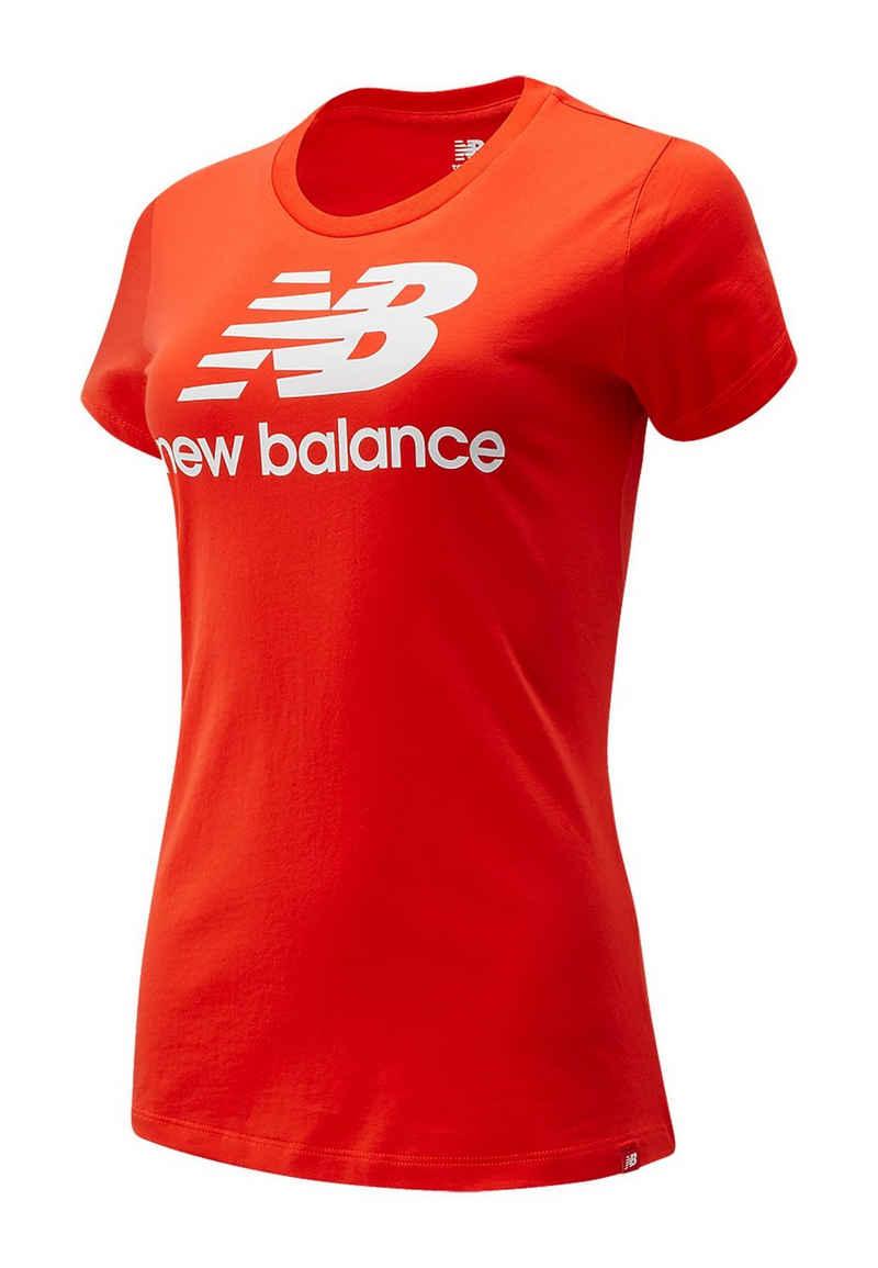 New Balance T-Shirt »New Balance T-Shirt Damen ESSE ST LOGO TEE WT91546 NEF Rot«