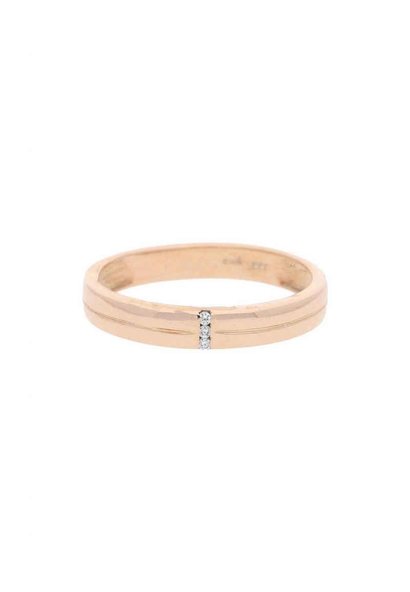 JuwelmaLux Goldring »Ring Rotgold mit Zirkonia« (1-tlg), Damen Ring Rotgold 333/000, inkl. Schmuckschachtel