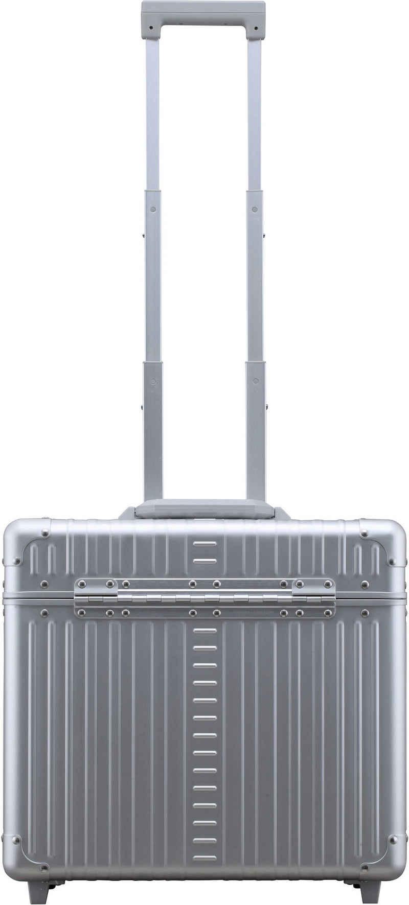 ALEON Pilotenkoffer »Aluminiumkoffer 17 Zoll Pilot Case, 42 cm«, 2 Rollen, inkl. Kabeltasche und Schutzhülle