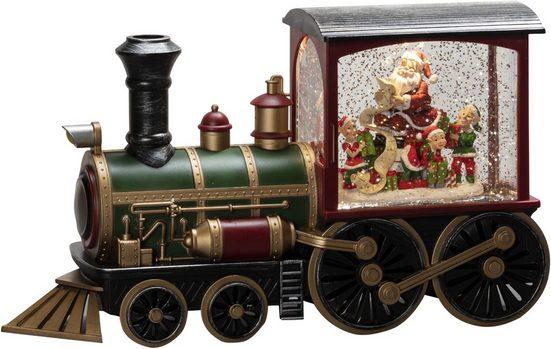 "KONSTSMIDE LED Laterne, LED Wasserlaterne, mehrfarbig, ""Lokomotive mit Weihnachtsmann"""