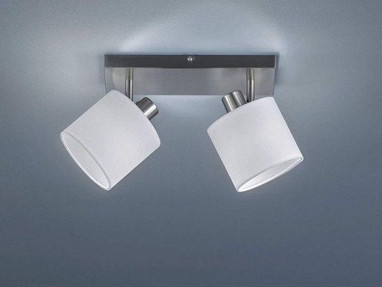 TRIO LED Deckenstrahler, dimmbarer Licht-Spot Strahler eckig 2-flammig Retro Decken-Strahler schwenkbare Flur-Beleuchtung