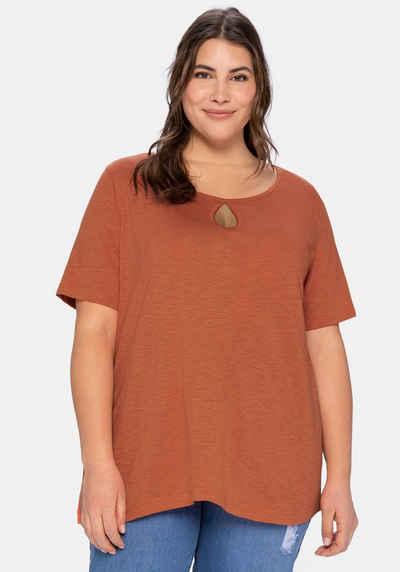 Sheego T-Shirt aus leichter Flammgarnqualität