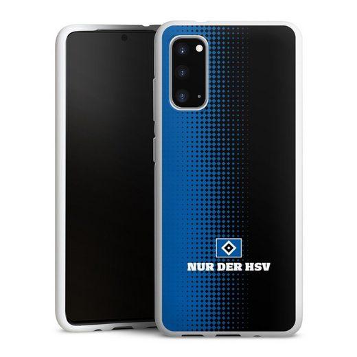 DeinDesign Handyhülle »Nur der HSV - Rautenraster Schwarz« Samsung Galaxy S20, Hülle Offizielles Lizenzprodukt HSV Hamburger SV