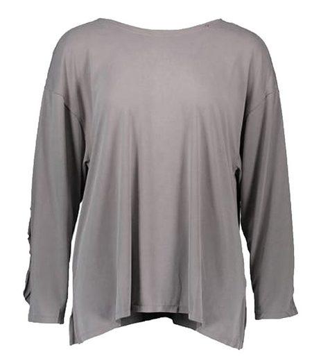 Replay Rundhalsshirt »REPLAY Longsleeve elegantes T-Shirt Sommer-Shirt für Damen Rundhals Grau«