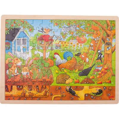 goki Puzzle »Holzpuzzle 96 Teile Unser Garten über und unter«, Puzzleteile