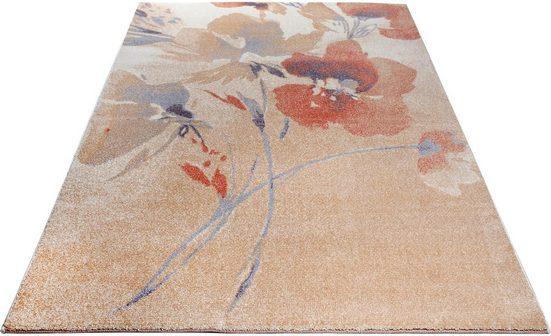 Teppich »Lovis«, Home affaire, rechteckig, Höhe 14 mm, Blumen Design