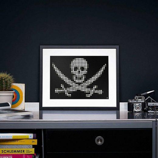 Dot On Malvorlage »dot on art pirate - jolly roger, 30 x 40 cm«