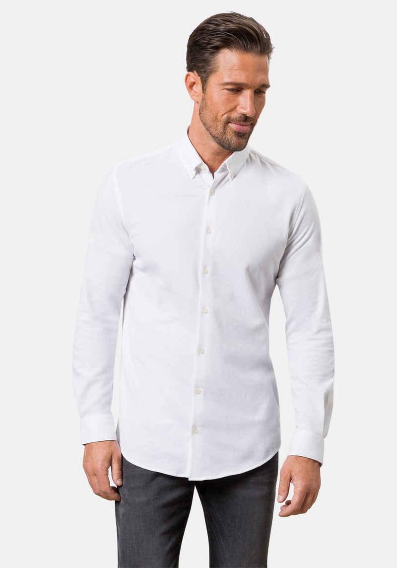 Pierre Cardin Langarmhemd »Piqué-Hemd«