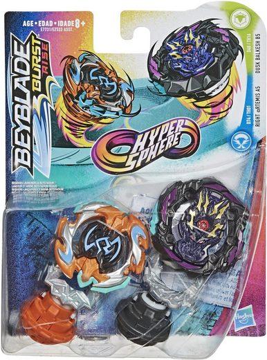 Hasbro Speed-Kreisel »Beyblade Burst Rise Hypersphere Doppelpack Dusk Balkesh B5 und Right Artemis A5« (Set)
