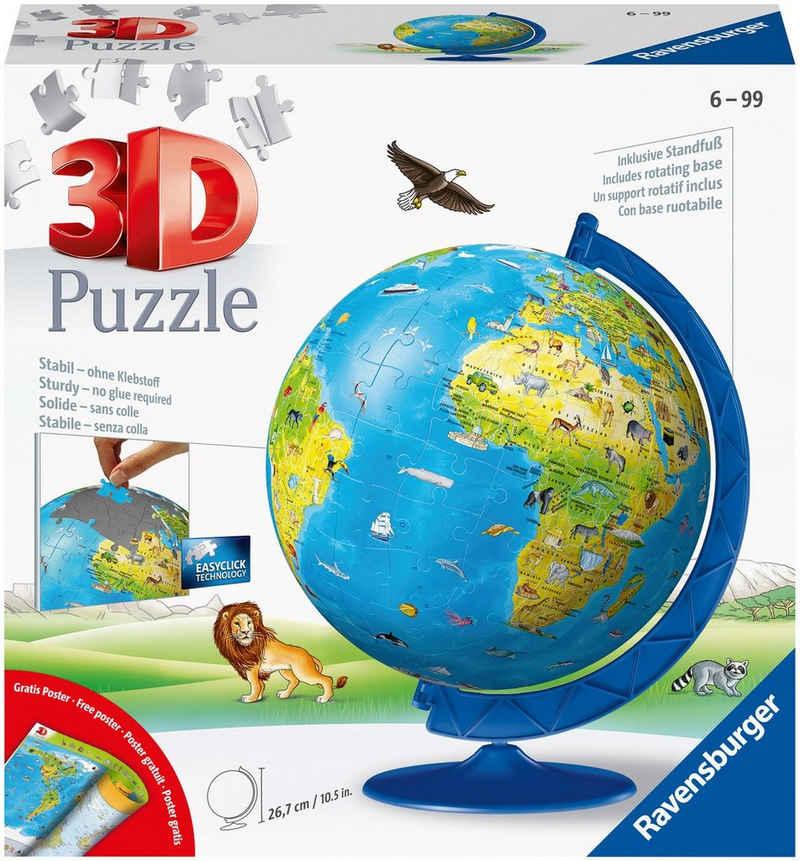 Ravensburger Puzzleball »Kinderglobus in deutscher Sprache«, 180 Puzzleteile, Made in Europe, FSC® - schützt Wald - weltweit