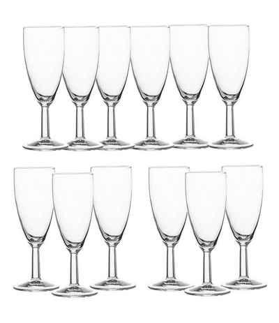 Luminarc Glas »Sektgläser 12 Stück Reims Sektkelch 14,5cl«, Glas