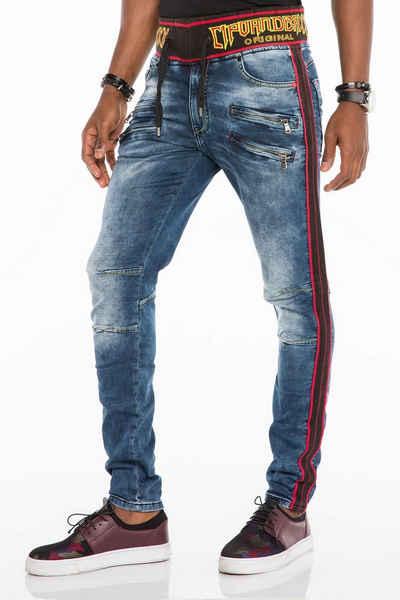 Cipo & Baxx Bequeme Jeans mit Kordelbund in Slim Fit