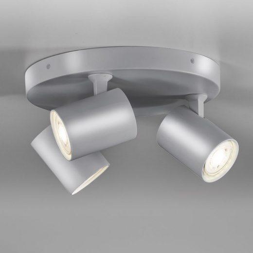 click-licht Deckenspot »Spot Cup in Grau GU10 3-flammig rund«, Deckenstrahler, Deckenspot, Aufbaustrahler