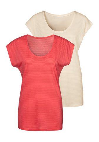 Beachtime Marškinėliai (2er-Pack) su dekoratyvus...