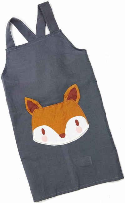 ThreadBear Kochschürze »Fuchs«, Kinderschürze aus Leinen