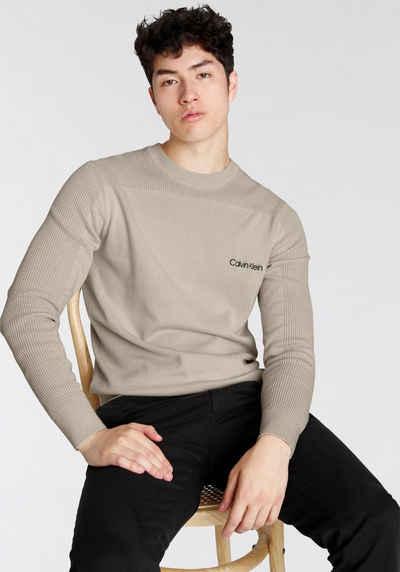 Calvin Klein Rundhalspullover im Mustermix