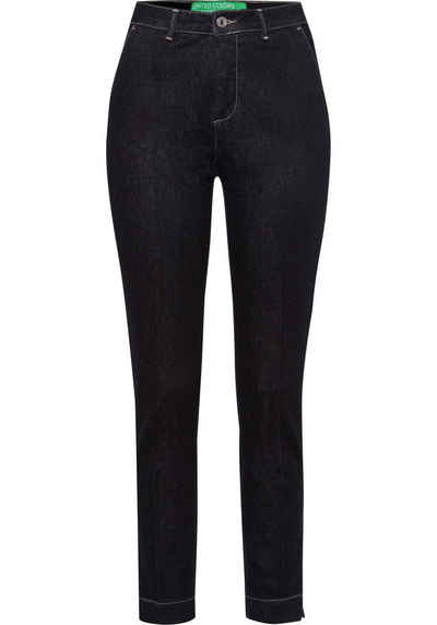 United Colors of Benetton Slim-fit-Jeans mit Bügelfalten vorne