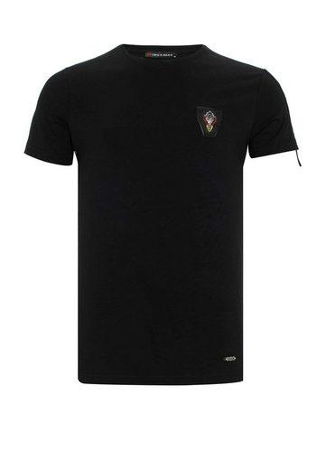 Cipo & Baxx T-Shirt »Chaos« mit Aufnäher