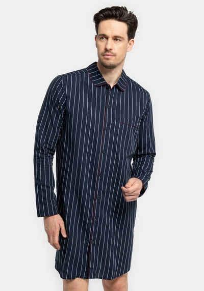 seidensticker Nachthemd »für den Herren aus Webware« mit Knöpfen