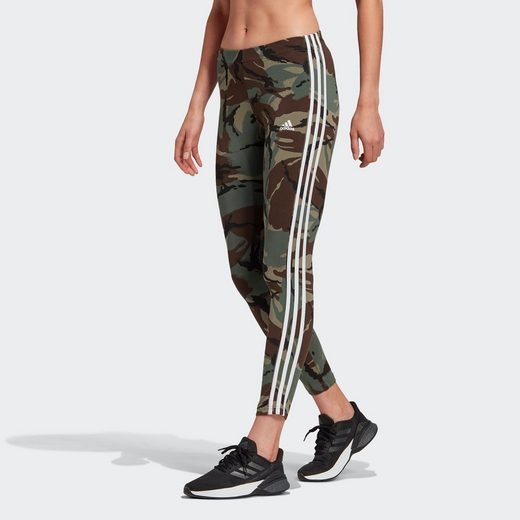adidas Performance Leggings »ADIDAS ESSENTIALS CAMOUFLAGE 3-STREIFEN 7/8«