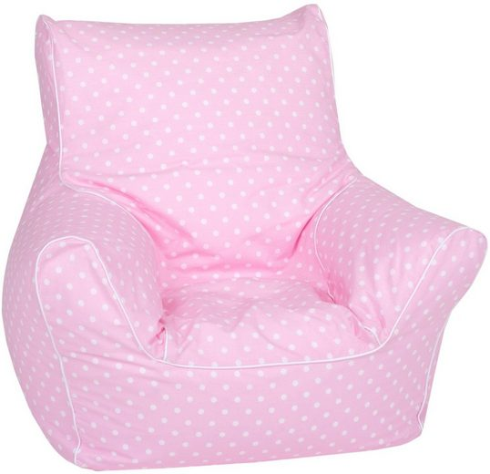 Knorrtoys® Sitzsack »Pink white dots«, für Kinder; Made in Europe