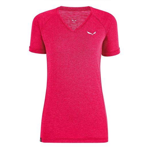 Salewa T-Shirt »T-Shirt Puez Melange Dry'ton V-Neck - Salewa«