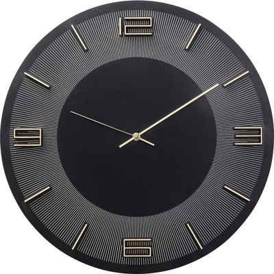 KARE Uhr »Wanduhr Leonardo SchwarzGold«