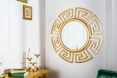 riess-ambiente Wandspiegel »EUPHORIA 85cm gold« (1-St), Spiegel · rund · mit Rahmen · groß · Wohnzimmer · Deko