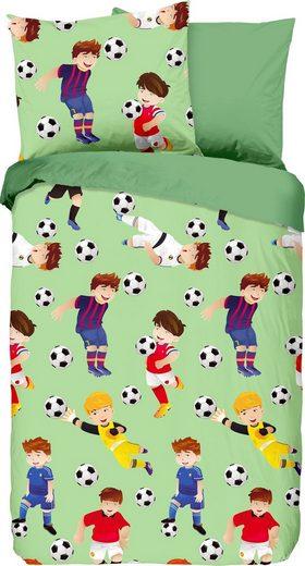 Kinderbettwäsche »Go«, good morning, mit Fußball-Motiv