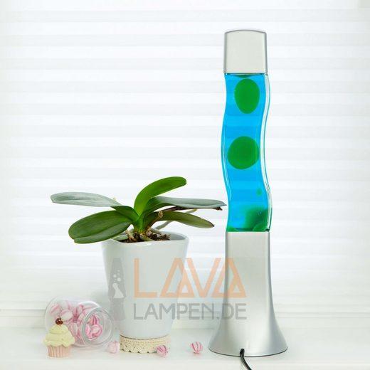 Licht-Erlebnisse Lavalampe »BECKSTER Retro Lavalampe Blau Grün quadratisch 42cm hoch Lampe«