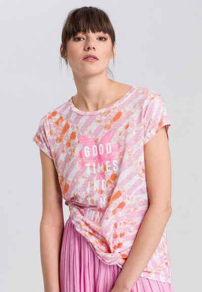 MARC AUREL T-Shirt mit Batikprint