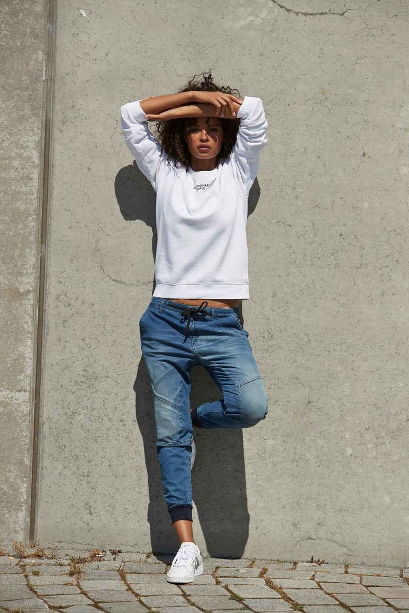Replay Jogg Pants coole Jeans in Stretch-Qualität, mit Bindeband & lässigen Seitentaschen