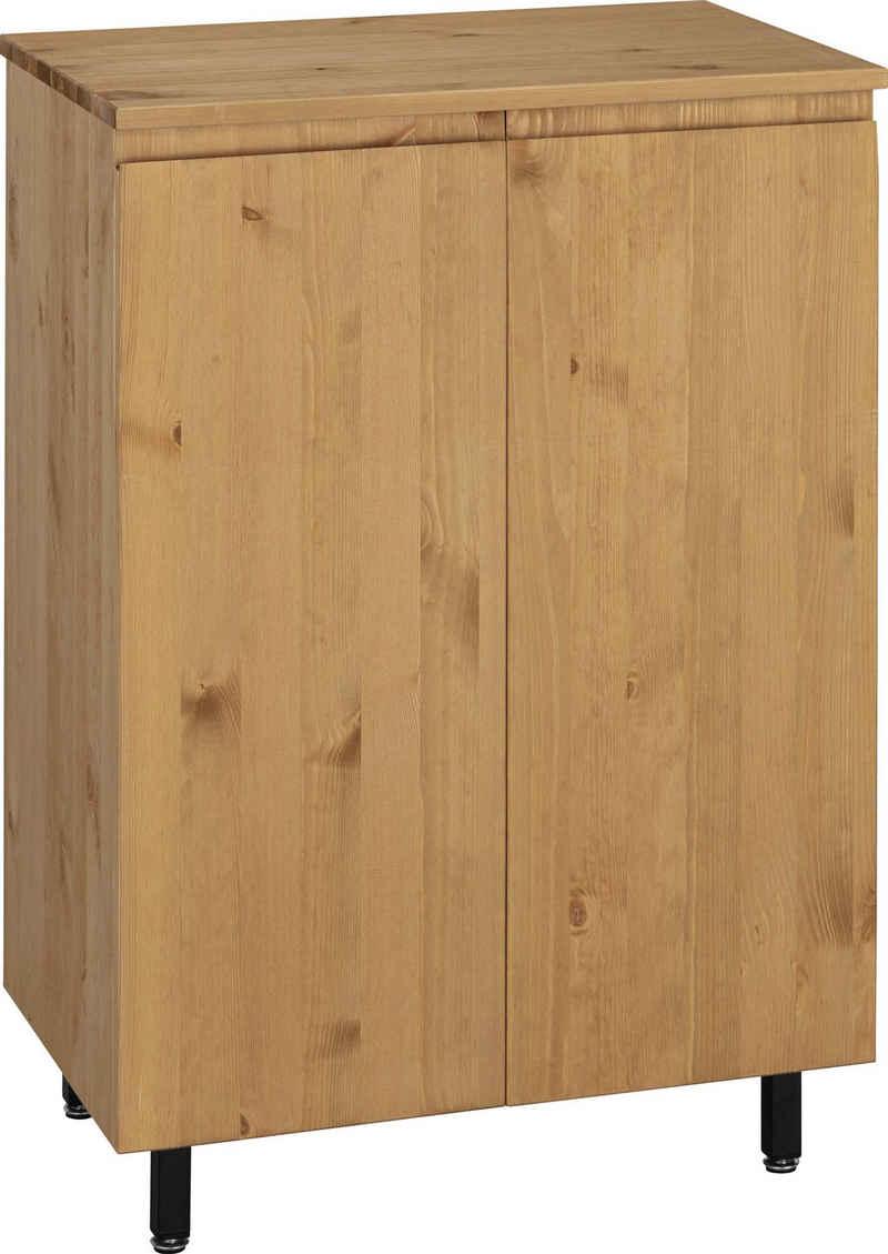 OTTO products Badkommode »Fjonn«, aus Kiefer massiv, Breite 60 cm, Massivholz mit pflanzlichem Bio Öl behandelt