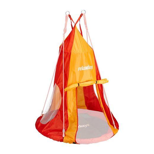 relaxdays Nestschaukel »Zelt für Nestschaukel rot-orange«