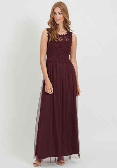 Vila Abendkleid »VILYNNEA« mit Spitze und tiefem Rückenausschnitt