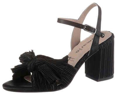 Tamaris »CALLIE« Sandalette in trendiger Plissee-Optik