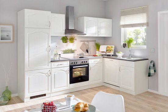 WIHO KÜCHEN Küchenzeile mit E-Geräten »Winkelblock Lausanne«, Breite 280 x 170 cm