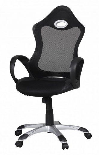 Amstyle Chefsessel »SPM1.241« Bürostuhl SALSA Stoffbezug Schreibtischstuhl Armlehne schwarz grau Chefsessel Drehstuhl höhenverstellbar X-XL
