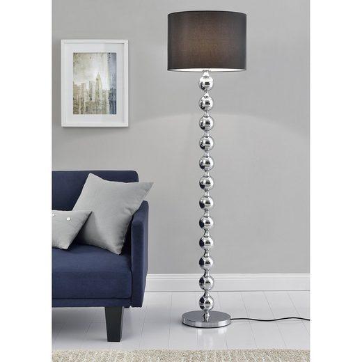 lux.pro Stehlampe, »Spheric Black« Elegante Stehleuchte Höhe 155cm