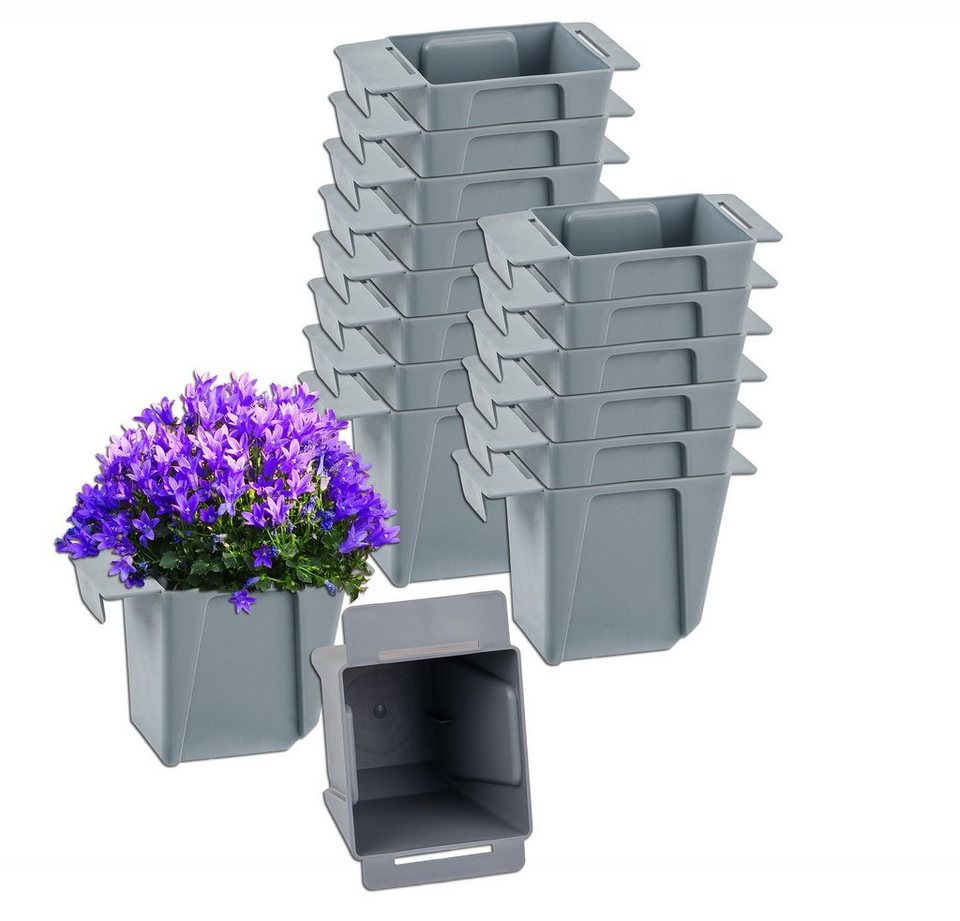 Pflanzkübel 80cm für Außen Garten Balkon Pflanzentopf Pflanzkasten Blumentrog