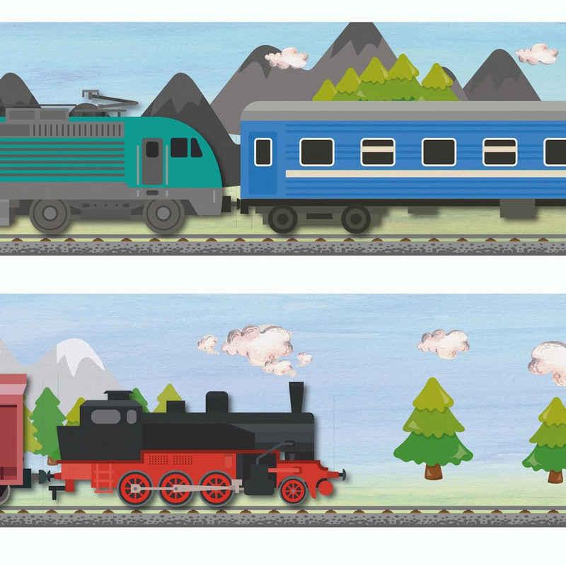 Sunnywall Bordüre »Eisenbahn (Bordüre - 400 cm)«, Wald, (1 St)
