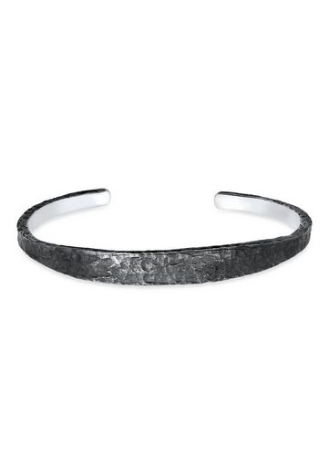 Kuzzoi Armband »Herren Armreif Handgefertigt Used Look 925 Silber«