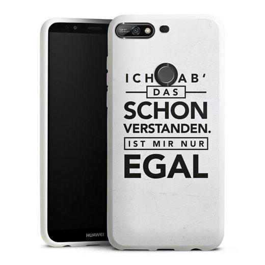 DeinDesign Handyhülle »Schon verstanden« Huawei Y7 (2018), Hülle Sprüche Statement Antivalentinstag