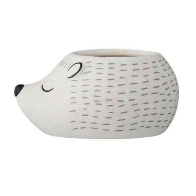 Bloomingville Blumentopf »Kassander weiß«, Übertopf, Blumenübertopf, Keramiktopf, Igel-Form, Keramik, dänisches Design