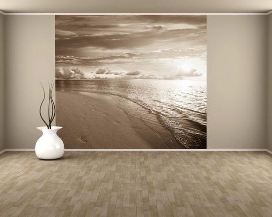 Bilderdepot24 Fototapete, Fototapete Sonnenuntergang am Strand II, selbstklebendes Vinyl